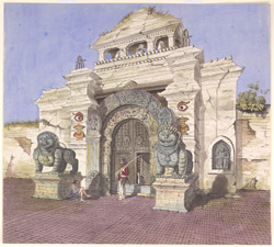 Gateway in the Durbar, Khatmandoo. 1858